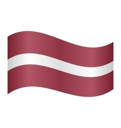 Flag of Latvia waving vector