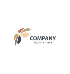 Flower company logo template design vector