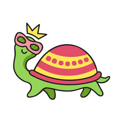 funny turtle in sunglasses vector image