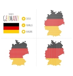 Germany Map in 3 Styles vector