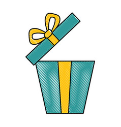 giftbox present open isolated icon vector image