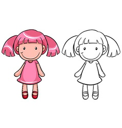 Girl doll vector