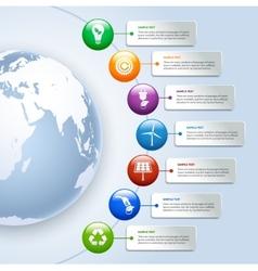 Green energy infographics vector