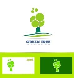 Green tree logo icon vector