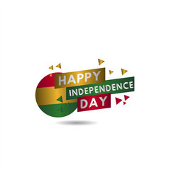 Happy ghana independence day template design vector