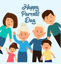 happy parents day concept vector image