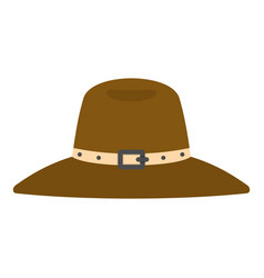 Hat icon isolated vector