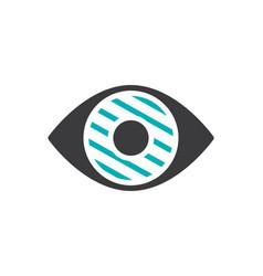 Human eye disease colored icon infected organ vector