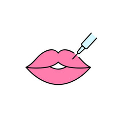 Hyaluronic acid lips injection vector