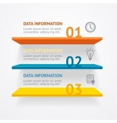 Infografic shelves vector