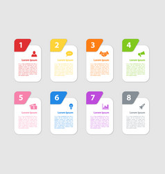 Infographic design business concept with 8 steps vector