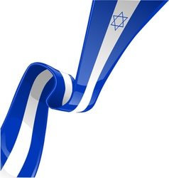 isdrael RIBBON FLAG vector image