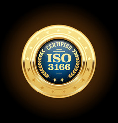 iso 3166 standard medal - country codes vector image