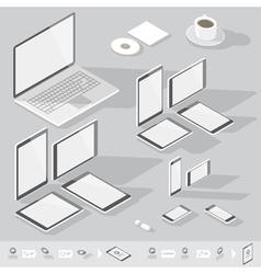 Isometric branding gray computer vector