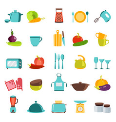 kitchen utensils household vector image