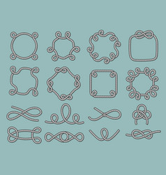 lasso nautical frames rope marine knot tied vector image
