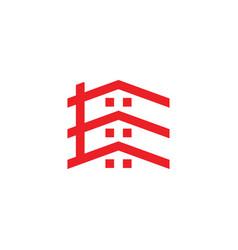 letter e rohome geometric line logo vector image