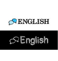 logo for english school subject vector image