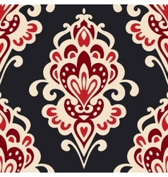 Luxury Damask flower pattern vector image