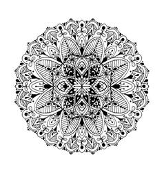 Mandala circle ornamental pattern for your design vector