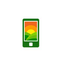 Mobile farm logo icon design vector