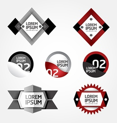 Modern Design modern Labels can be used for infog vector image vector image