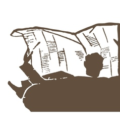 Newspaper Reading vector image