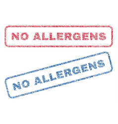 No allergens textile stamps vector