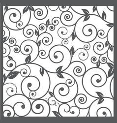 Pattern silhouette cut tracery vector