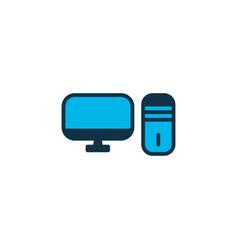 pc icon colored symbol premium quality isolated vector image
