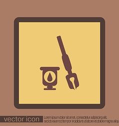 pen with ink icon vector image