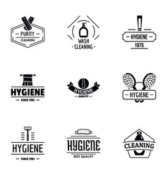Personal cleanliness logo set simple style vector