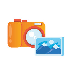 Picture file format with camera photographic vector
