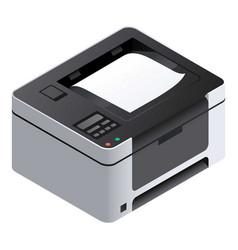 printer icon isometric style vector image