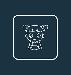 school girl icon line symbol premium quality vector image