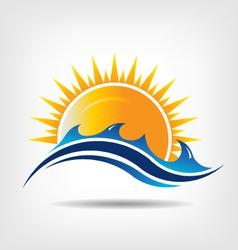 Sea and sun season vector image vector image