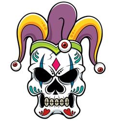 Skull joker vector image