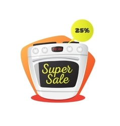 stove in cartoon style vector image
