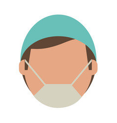 Surgeon faceless avatar vector