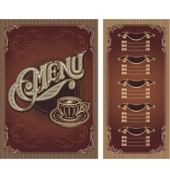 Template menu for hot tea coffee restaurant vector