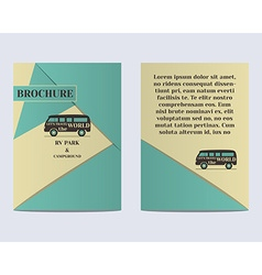 Travel Brochure Flyer design Layout template Rv vector