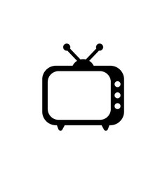 tv icon in flat style television symbol vector image