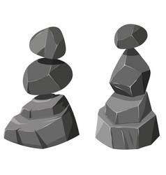 Two stacks rocks vector