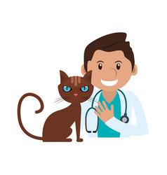 veterinarian doctor man ico vector image
