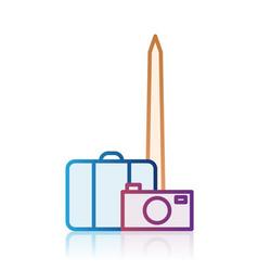 washington tourism destination icon vector image vector image