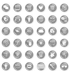 Web multi button set vector image