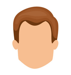 White background of faceless man with light brown vector