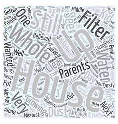 Whole house filter Word Cloud Concept vector