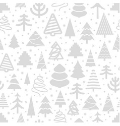winter forest seamless pattern christmas greeting vector image