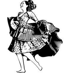 woman dancing vector image
